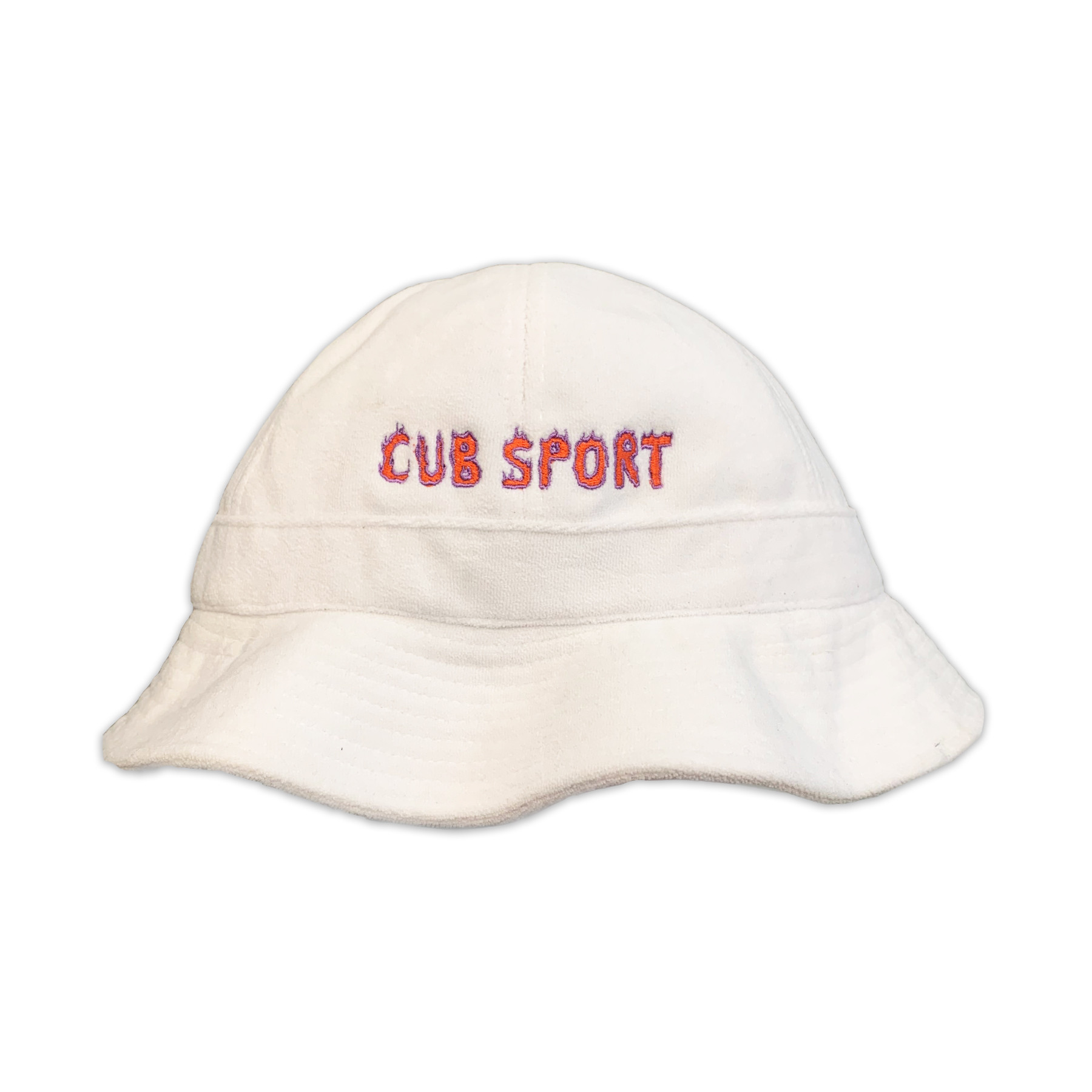 Terry Towelling White Bucket Hat
