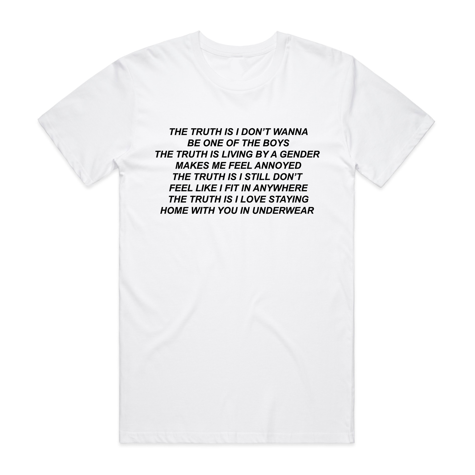 White The Truth is Tee