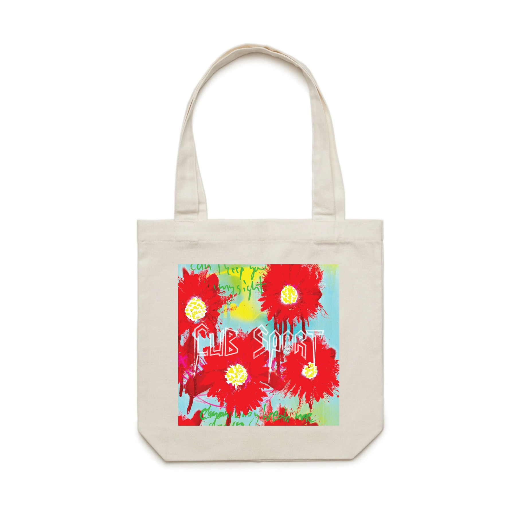 Graffiti Flower Natural Tote